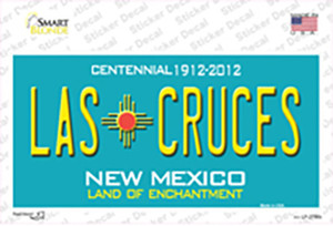 Las Cruces New Mexico Teal Wholesale Novelty Sticker Decal