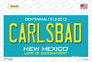 Carlsbad New Mexico Teal Wholesale Novelty Sticker Decal