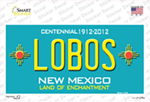 Lobos New Mexico Teal Wholesale Novelty Sticker Decal