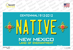 Native New Mexico Teal Wholesale Novelty Sticker Decal