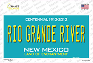 Rio Grande River New Mexico Teal Wholesale Novelty Sticker Decal