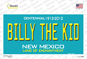 Billy The Kid New Mexico Teal Wholesale Novelty Sticker Decal