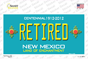 Retired New Mexico Teal Wholesale Novelty Sticker Decal