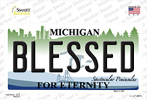 Blessed Michigan State Wholesale Novelty Sticker Decal