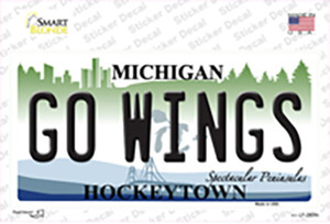 Go Wings Michigan State Wholesale Novelty Sticker Decal