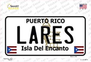 Lares Puerto Rico Wholesale Novelty Sticker Decal