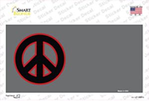 Peace Symbol Offset Wholesale Novelty Sticker Decal
