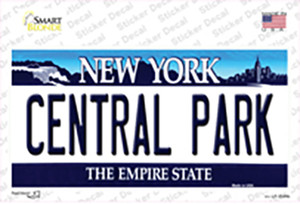 Central Park New York Background Wholesale Novelty Sticker Decal