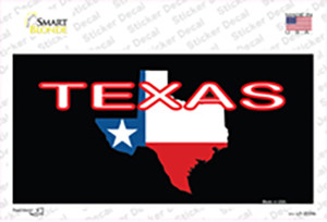 Texas Filled State Flag Wholesale Novelty Sticker Decal