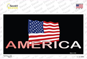 American Flag Black Wholesale Novelty Sticker Decal
