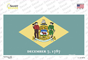Delaware State Flag Wholesale Novelty Sticker Decal
