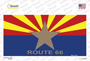 Route 66 Arizona Star Flag Wholesale Novelty Sticker Decal