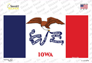 Iowa State Flag Wholesale Novelty Sticker Decal