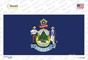 Maine State Flag Wholesale Novelty Sticker Decal