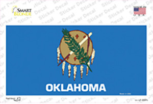 Oklahoma State Flag Wholesale Novelty Sticker Decal