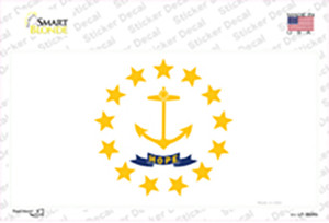 Rhode Island State Flag Wholesale Novelty Sticker Decal