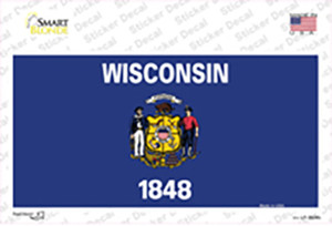 Wisconsin State Flag Wholesale Novelty Sticker Decal