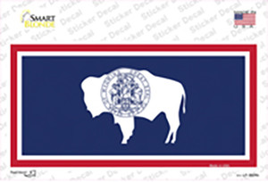 Wyoming State Flag Wholesale Novelty Sticker Decal
