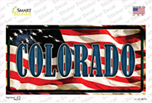 Colorado on American Flag Wholesale Novelty Sticker Decal