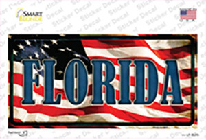 Florida on American Flag Wholesale Novelty Sticker Decal