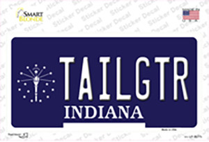 Tailgtr Indiana Wholesale Novelty Sticker Decal