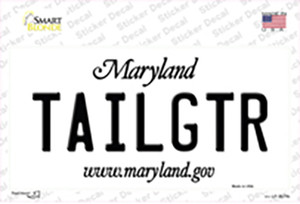 Tailgtr Maryland Wholesale Novelty Sticker Decal