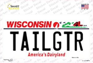 Tailgtr Wisconsin Wholesale Novelty Sticker Decal