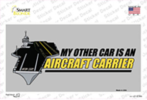 My Other Car Aircraft Carrier Wholesale Novelty Sticker Decal