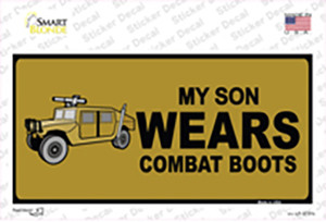 Son Wears Combat Boots Wholesale Novelty Sticker Decal