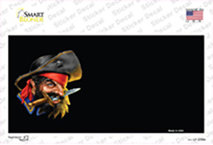 Pirate With Sword Offset Wholesale Novelty Sticker Decal