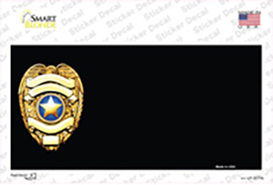 Police Badge Offset Wholesale Novelty Sticker Decal