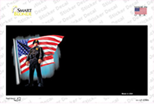 Police Officer American Flag Offset Wholesale Novelty Sticker Decal