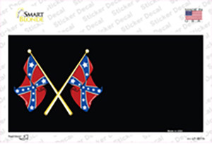 Crossed Rebel Flags Offset Wholesale Novelty Sticker Decal