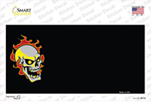 Flaming Skull Offset Wholesale Novelty Sticker Decal