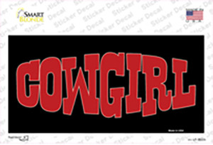 Cowgirl Wholesale Novelty Sticker Decal