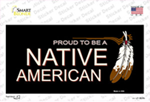 Proud To Be A Native American Wholesale Novelty Sticker Decal