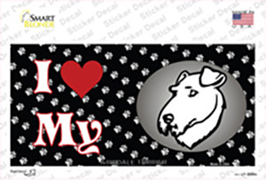 I Love My Airedale Terrier Wholesale Novelty Sticker Decal