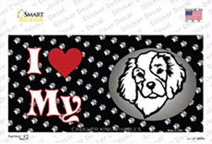I Love My Cavalier King Charles Wholesale Novelty Sticker Decal