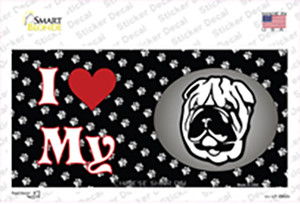 I Love My Chinese Shar Pei Wholesale Novelty Sticker Decal