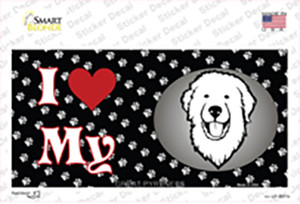 I Love My Great Pyrenees Wholesale Novelty Sticker Decal