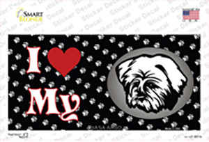 I Love My Lhasa Apso Wholesale Novelty Sticker Decal