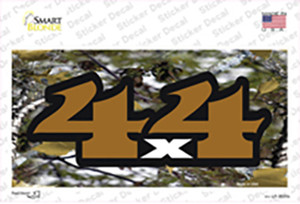 4x4 Camouflage Wholesale Novelty Sticker Decal