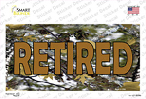Retired Camouflage Wholesale Novelty Sticker Decal