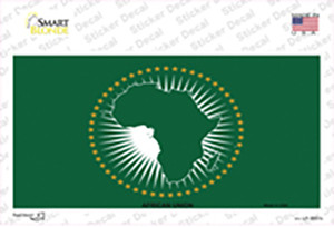 African Union Flag Wholesale Novelty Sticker Decal
