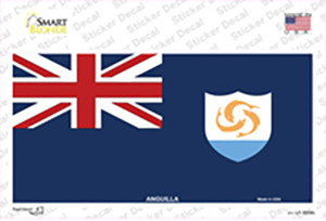 Anguilla Flag Wholesale Novelty Sticker Decal