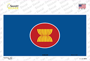 Asean Flag Wholesale Novelty Sticker Decal