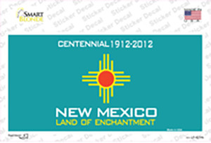 New Mexico Background Wholesale Novelty Sticker Decal