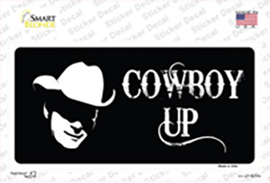 Cowboy Up Wholesale Novelty Sticker Decal