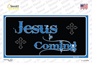 Jesus Is Coming Blue Wholesale Novelty Sticker Decal