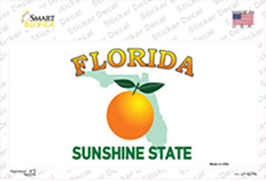 Florida State Background Wholesale Novelty Sticker Decal